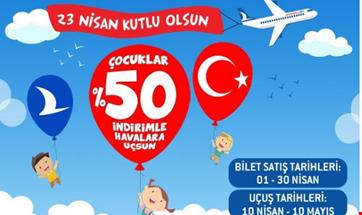 Anadolujet 23 nisan çocuk bayramı kampanyası