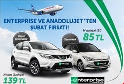 AnadoluJet ve Enterprise'dan Şubat Ayı Fırsatı